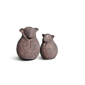 Brynxz set of 2 sheep classic old brown