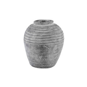 Nuo Grey Cement Jug Round Small Border S S Grijs 678099