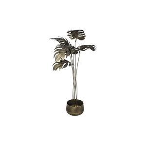 PMTD Palmz Gold metal brass leaves in planter B