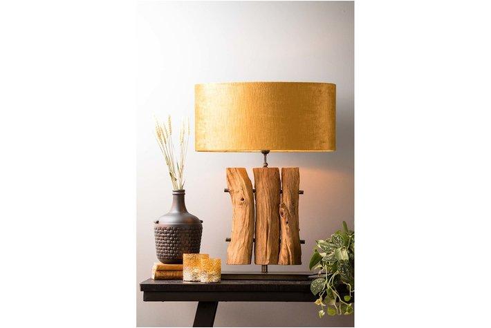 Light en Living Kap ovaal recht 58-58-27 cm GEMSTONE goud