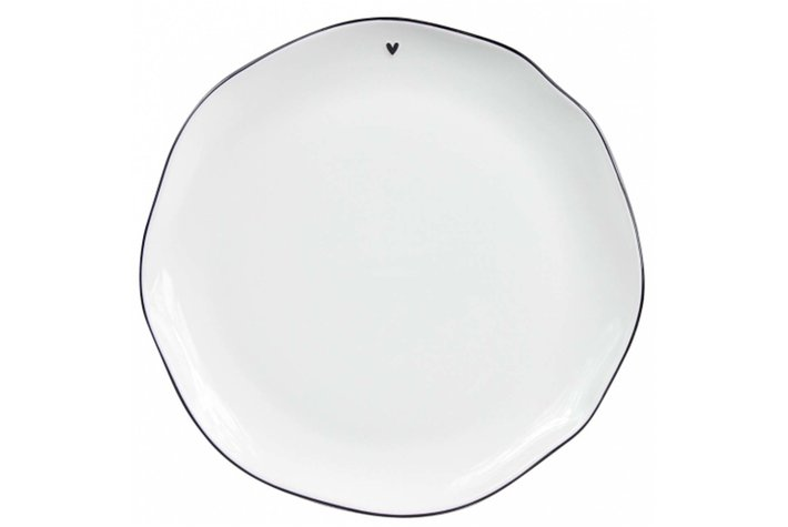 Bastion Collections Bastion Collections Dinner Plate white/edge black 27cm