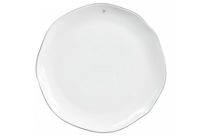 Bastion Collections Bastion Collections Dinner Plate white/edge grey 27cm