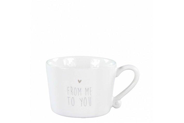 Bastion Collections Bastion Collections Mug Small White/From me to You in Grey