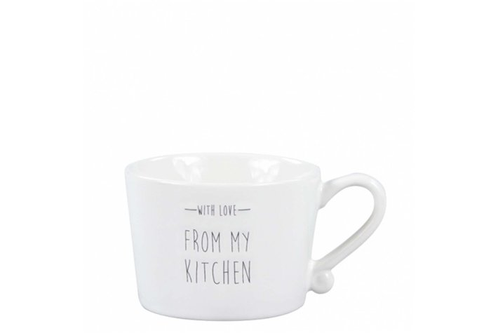 Bastion Collections Bastion Collections Mug S From me to You GreyMug Small White/with love from my kitchen in Black