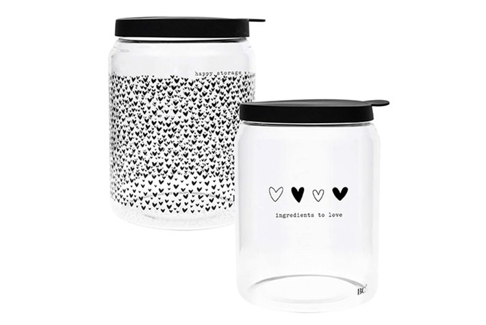 Bastion Collections  Bastion Collections Storage Ass (2x4) with black lid Dia 12.8x 16.5cm