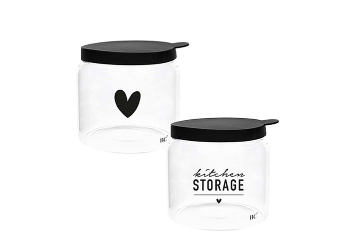Bastion Collections Bastion Collections Storage Ass (2x6) with black lid Dia 12.8x11cm