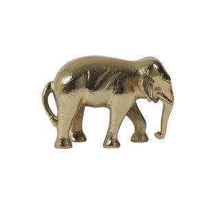 Light en Living Ornament 22x14x15 cm ELEPHANT gold
