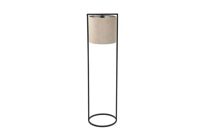 Light en Living Light en Living vloerlamp Ø35x130cm SANTOS matt zwart+velvet licht bruin
