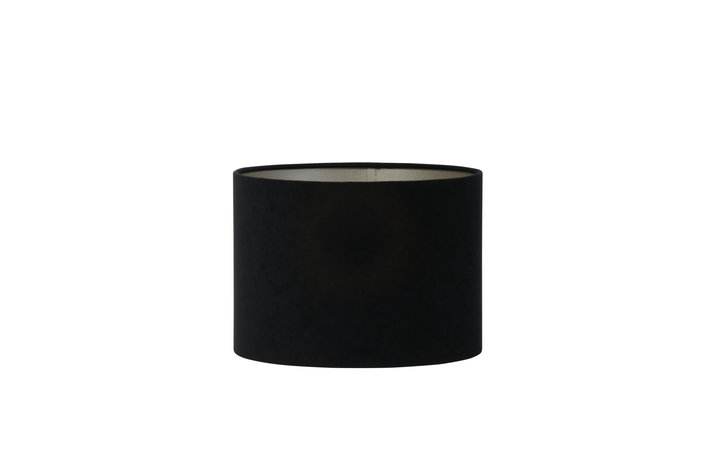 Light en Living Light en Living Kap cilinder 20-20-15cm VELOURS zwart