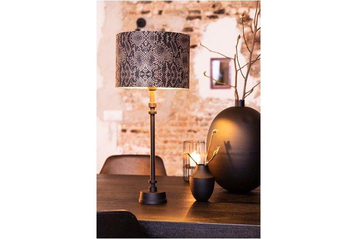 Light en Living Light and living kap cilinder 50cm pyton bruin