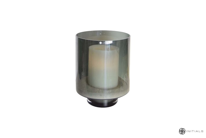 Haans lifestyle Haans candleholder glass smoked round - 35cm