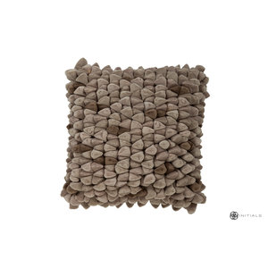Haans Cushion Pebble - Sand Taupe