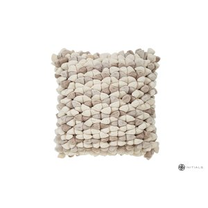 Haans Cushion Pebble - Champagne White