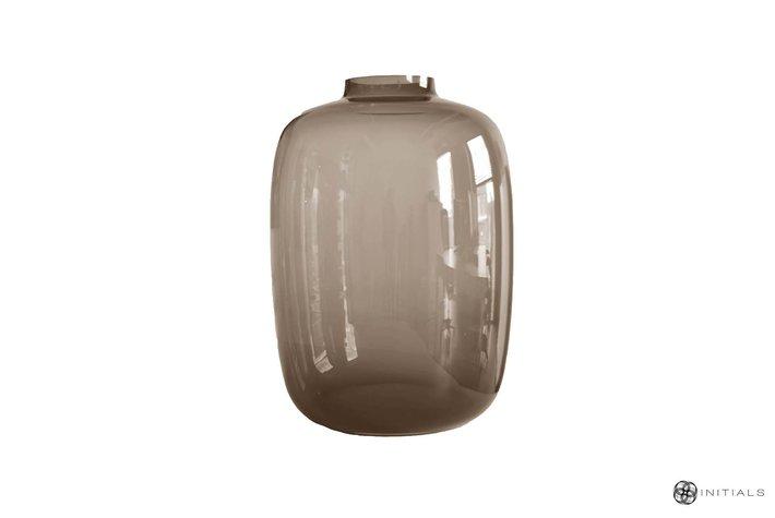 Haans lifestyle Haans vase small neck glass topaz round