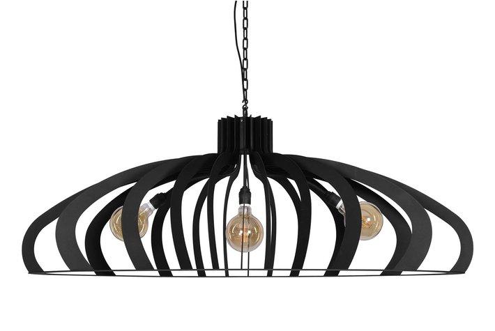 ZTAHL illuminators ZTAHL hanglamp Catania ovaal 3L - zwart