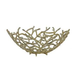 Fruit bowl Ø45x18,5 cm RAHMI gold