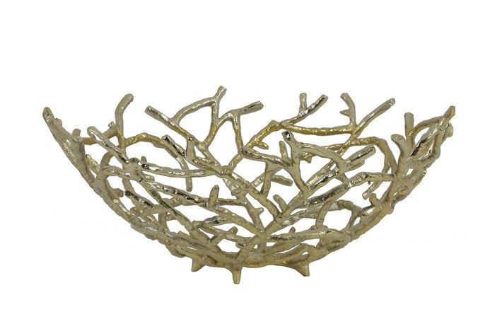 Light Living Fruit bowl Ø45x18,5 cm RAHMI gold