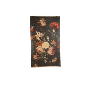 Maggy brown bamboo bloem print curtain