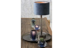 Light en Living Light & living Kap cilinder 20-20-15 cm VELOURS dusty blue