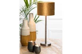 Light en Living Light en Living Lampvoet Ø16x50 cm UNDAI donker ruw nikkel