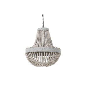 Light & Living Hanglamp kralen Ø51x63 cm LUNA oud wit