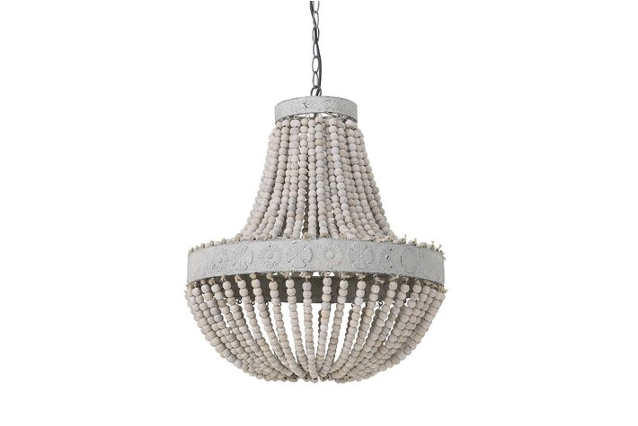 Light en Living Light & Living Hanglamp kralen Ø51x63 cm LUNA oud wit