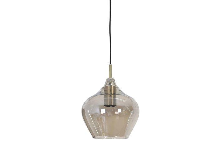 Light en Living Light & Living Hanging lamp Ø27x29,5 cm RAKEL antique brass+smoke