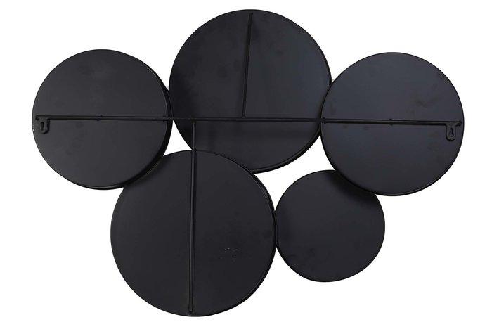 Eigenstijl Wonen Light & Living Mirror 76x11x60 cm SIANNA matt black