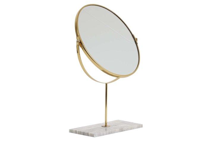 Light en Living Light & Living Mirror on base 33x12,5x48 cm RIESCO marble grey-ant bronze