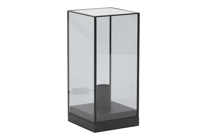 Light en Living Light & Living Table lamp 15x15x32,5 cm ASKJER matt black+smoke glass