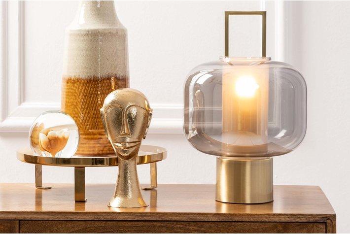 Light en Living Light & Living Table lamp Ø23x36 cm ARTUROS glass smoke+bronze
