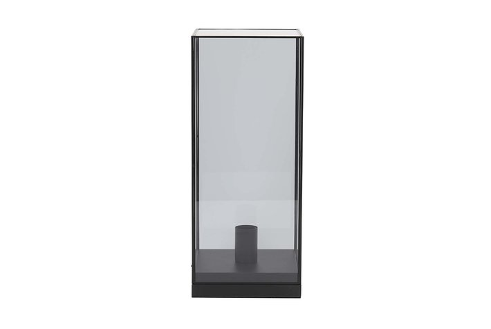 Light en Living Light & Living Table lamp 20x20x47 cm ASKJER matt black+smoke glass