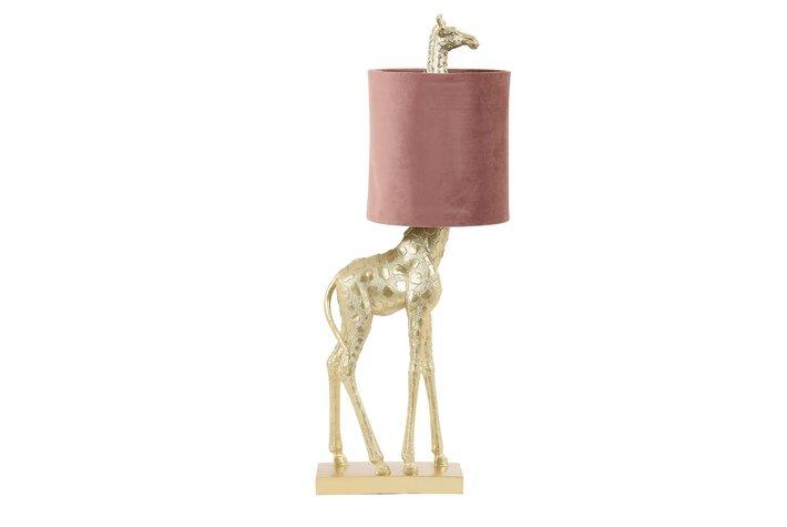 Light en Living Light & Living Table lamp 20x28x68 cm GIRAFFE gold+velvet old pink