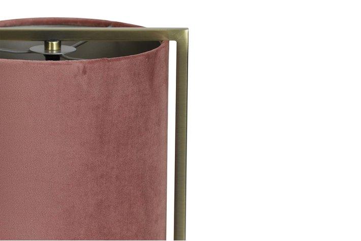 Light en Living Table lamp Ø22x35 cm SANTOS antique brass+shade old pink