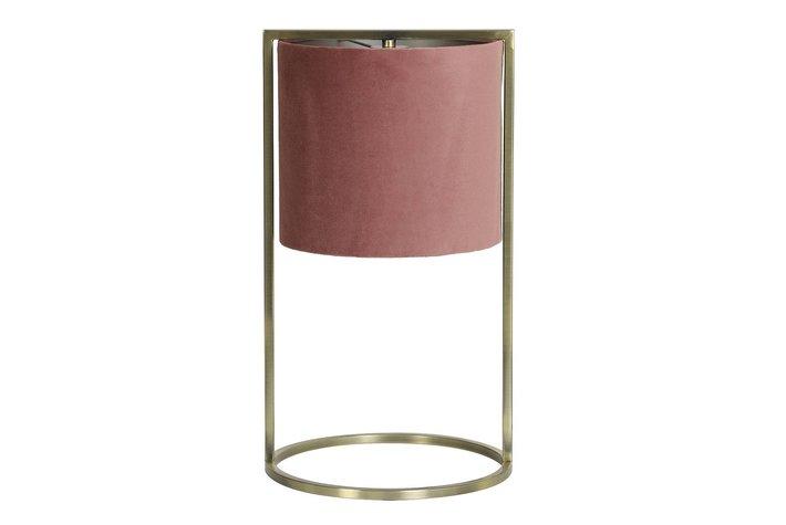 Light en Living Light & Living Table lamp Ø25x45 cm SANTOS antique brass+shade old pink