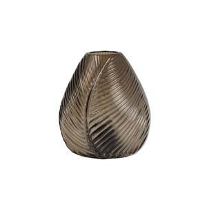 Light & Living Table lamp LED 13,5x15 cm LEAF glass brown