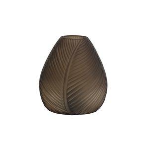 Light & Living Table lamp LED 13,5x15 cm LEAF glass brown matt