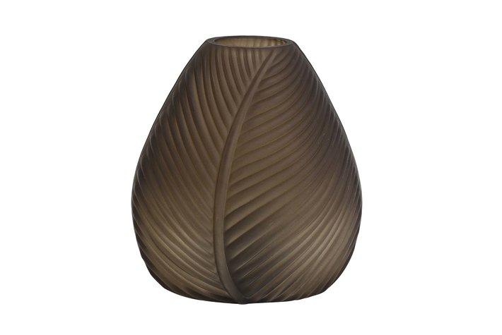 Light en Living Light & Living Table lamp LED 13,5x15 cm LEAF glass brown matt