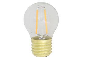 Light en Living Light & Living LED kogel Ø4,5x7 cm LIGHT 2W helder E27