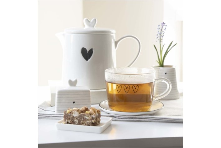 Bastion Collections Bastion Collections Teapot Wit LI-TEAPOT-HE-002BL