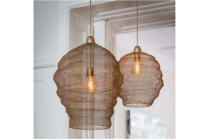 Light en Living Light & Living Hanglamp Ø38x42 cm NINA gaas licht goud
