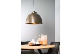 Light en Living Light & Living Hanglamp Kylie Ruw Nikkel