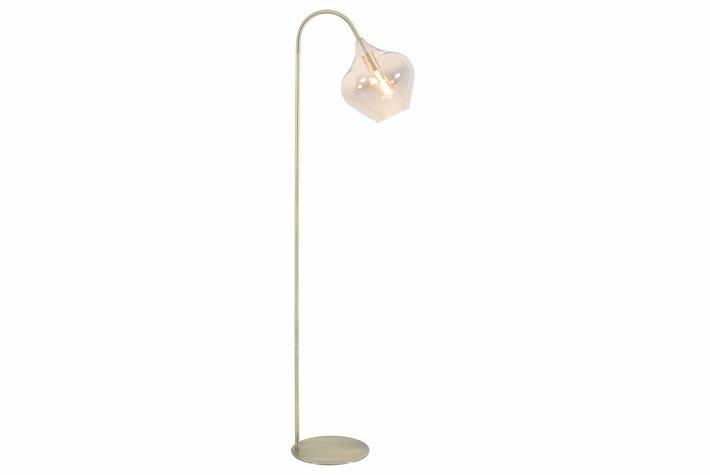 Light en Living Light & Living Vloerlamp 28x45x160 cm RAKEL antiek brons+smoke