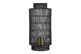 Light en Living Light & Living Tafellamp lantaarn Ø24x52 cm GRUARO draad zwart-antiek brons