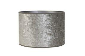 Light en Living Light & Living Kap cilinder 18-18-15 cm CHELSEA velours zilver