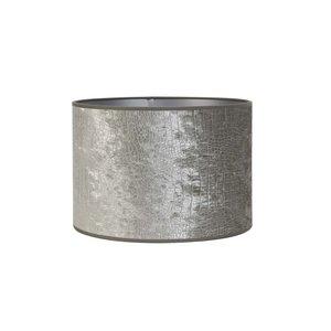 Light & Living Kap cilinder 18-18-15 cm CHELSEA velours zilver
