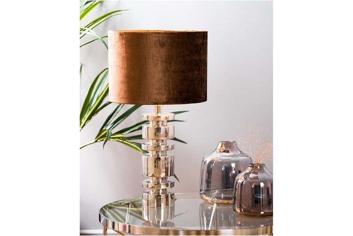 Light en Living Light & Living Kap cilinder gemstone  21- 30-30  bruin
