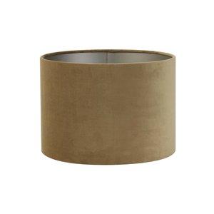Light & Living Kap cilinder 30-30-21 cm VELOURS karamel