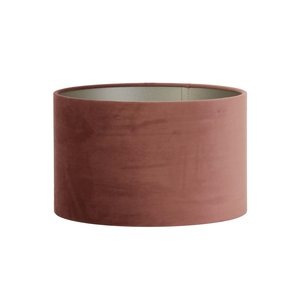 Light & Living Kap cilinder 35-35-21 cm VELOURS dusky pink