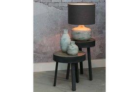 Light en Living Light & Living Kap cilinder 25-35-35 Livigno donker grijs